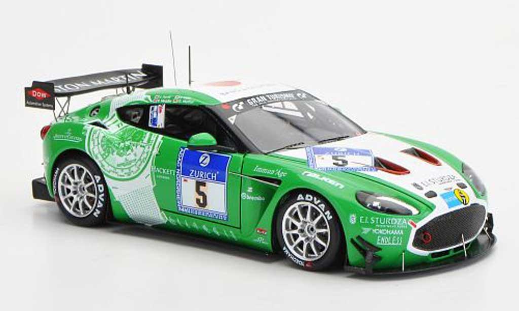 Aston Martin V12 Zagato 1/43 Minichamps No.5 24h Nurburgring 2011 miniature