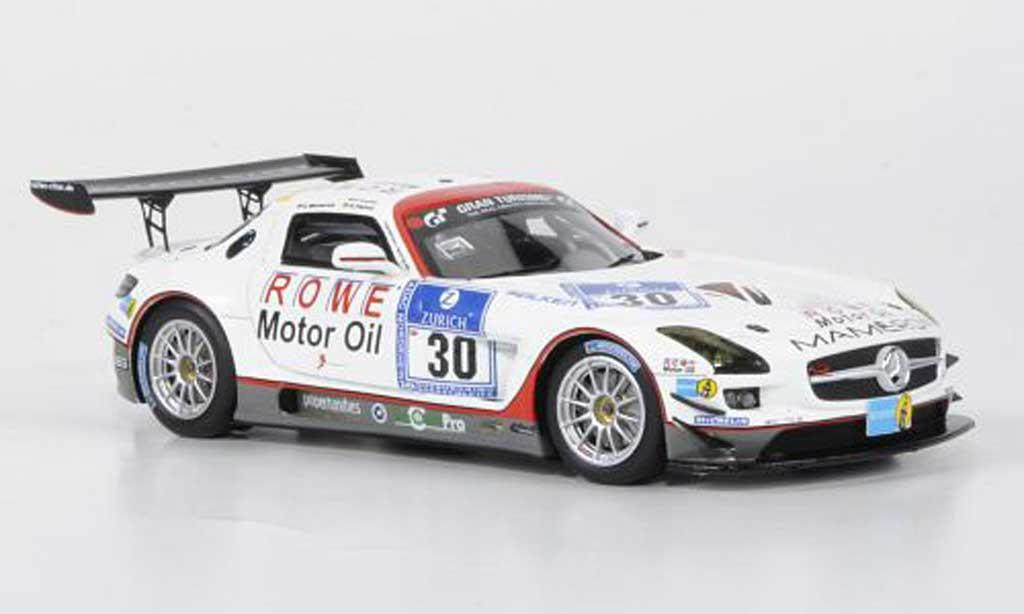 Mercedes SLS 1/43 Minichamps AMG GT3 No.30 Mamerow / Rowe Racing 24h ADAC Nurburgring 2011 miniature