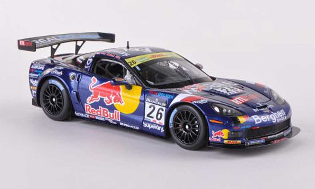 Chevrolet Corvette C6 1/43 Minichamps Z06.R GT3 No.26 Callaway Competion Red Bull 24h Spa 2011 Bouvy/Coens/Blanchemain/Kelders miniature