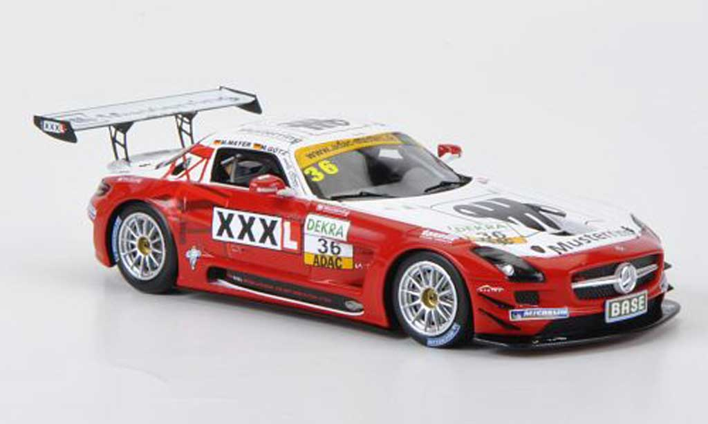 Mercedes SLS 1/43 Minichamps AMG GT3 No.36 MS Racing Musterring ADAC GT Masters 2011 miniature