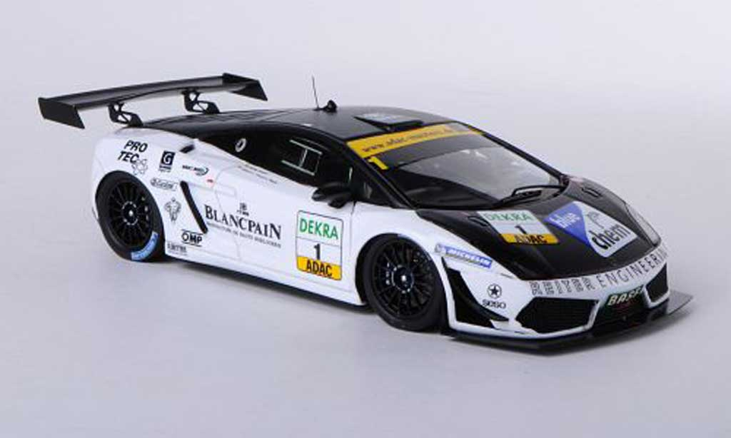 Lamborghini Gallardo LP600 1/43 Minichamps 2011 No.1 Team Reiter ADAC GT Masters miniature