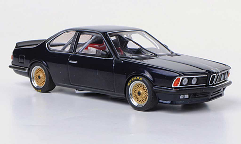 Bmw 635 CSI 1/43 Autoart Gr.A bleu Plain Body Version diecast