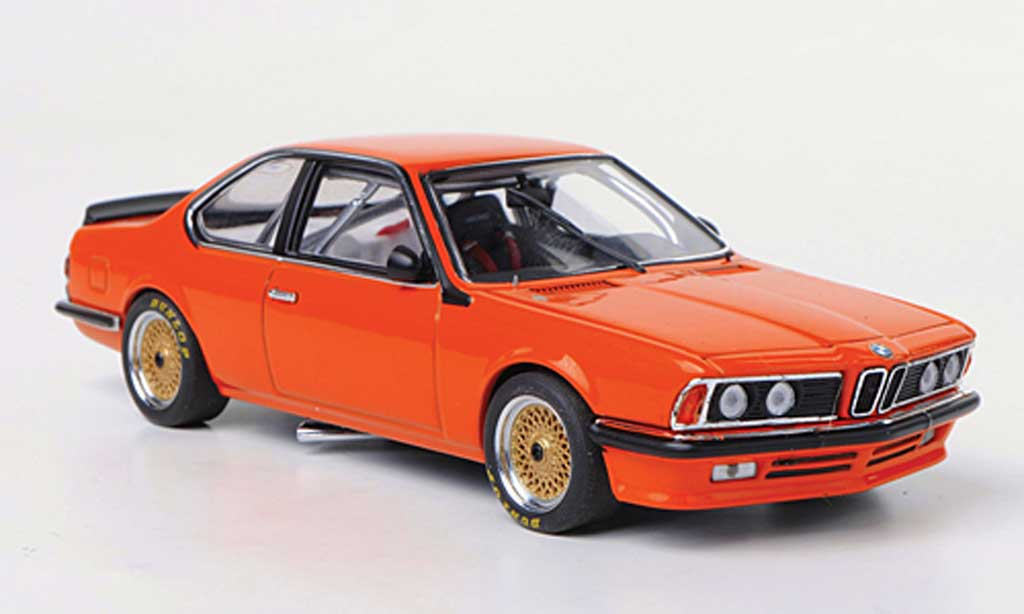 Bmw 635 CSI 1/43 Autoart Gr.A orange Plain Body Version diecast