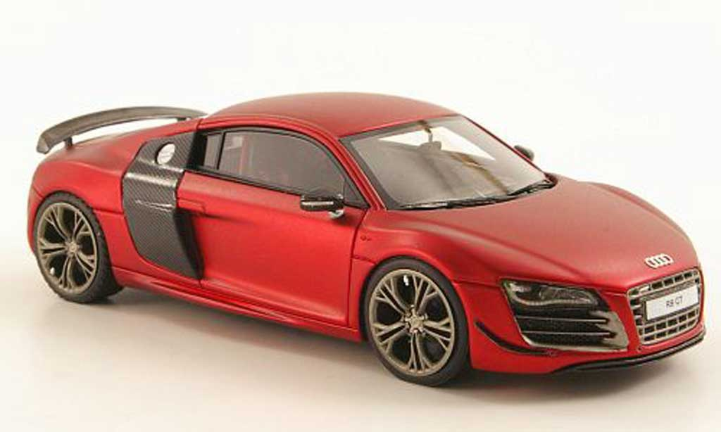 Audi R8 GT 1/43 Look Smart mattrouge/carbonoptik miniature