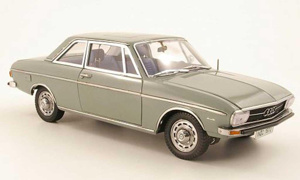 Audi 100 1/18 Signature 100 (C1) 2 portes grise verte 1972 miniature