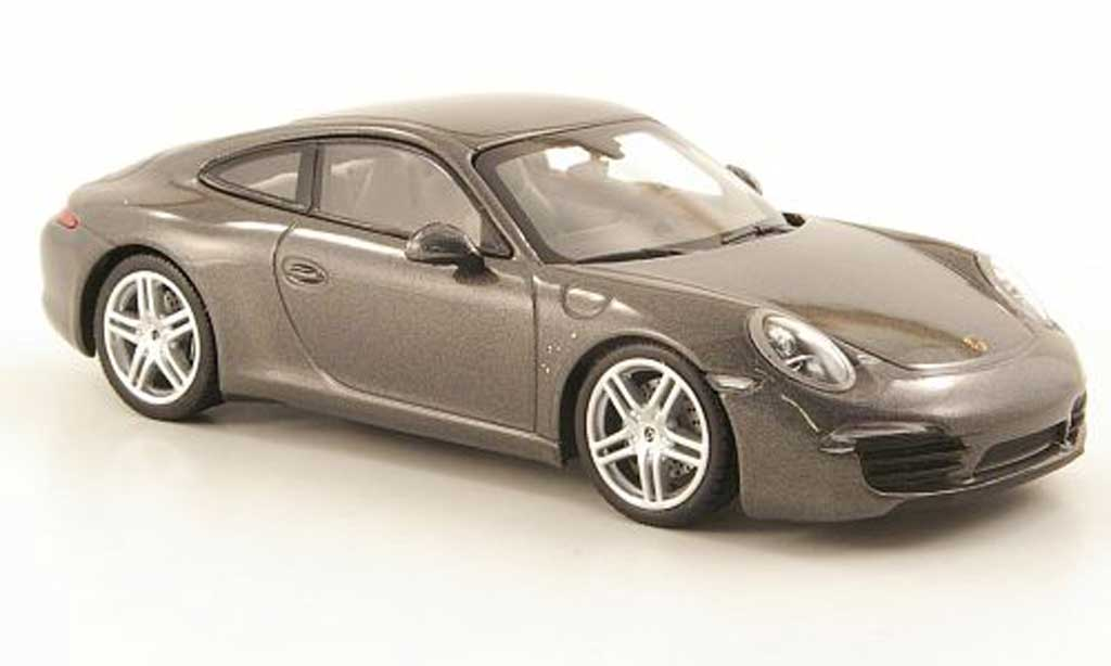 Porsche 991 Carrera 1/43 Minichamps gray 2011