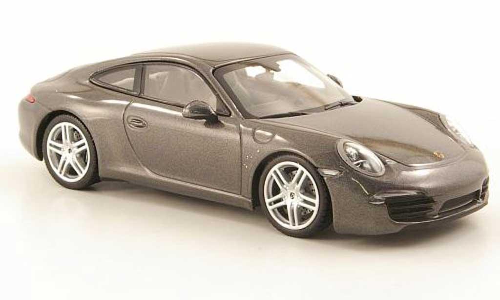 Porsche 991 Carrera 1/43 Minichamps gray 2011 diecast