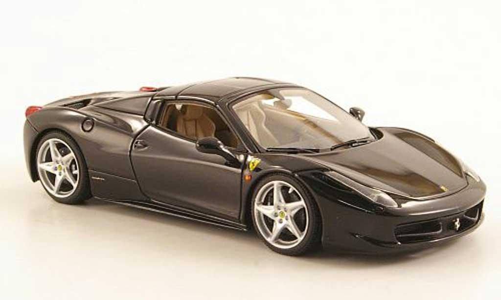 Ferrari 458 Italia Spider 1/43 Look Smart black Hard Top diecast