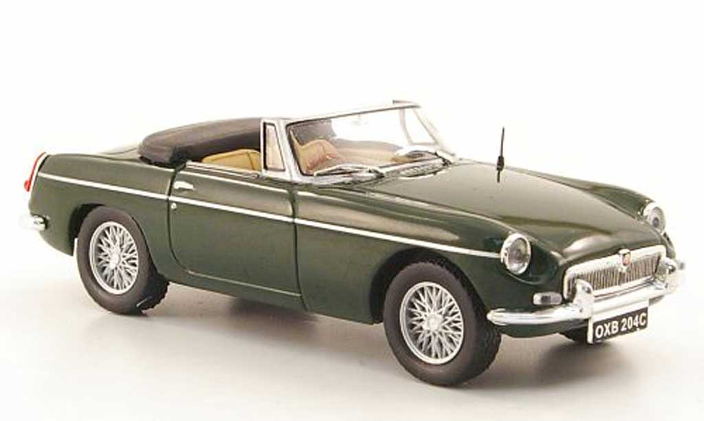MG B 1/43 Hachette Roadster Mk II grun 1968 diecast model cars