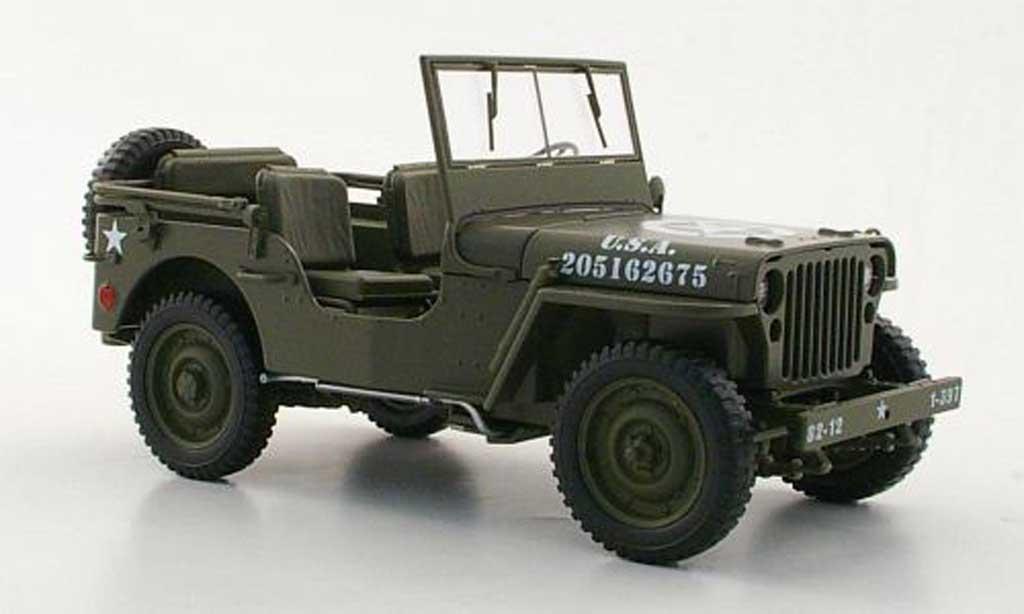 Jeep Willys 1/18 Welly U.S. Army oliv verde miniatura
