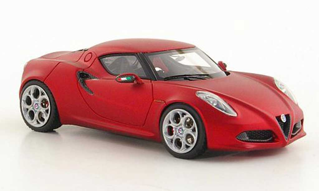 Alfa Romeo 4C 1/43 Look Smart Concept mattrouge Autosalon Genf 2011 miniature