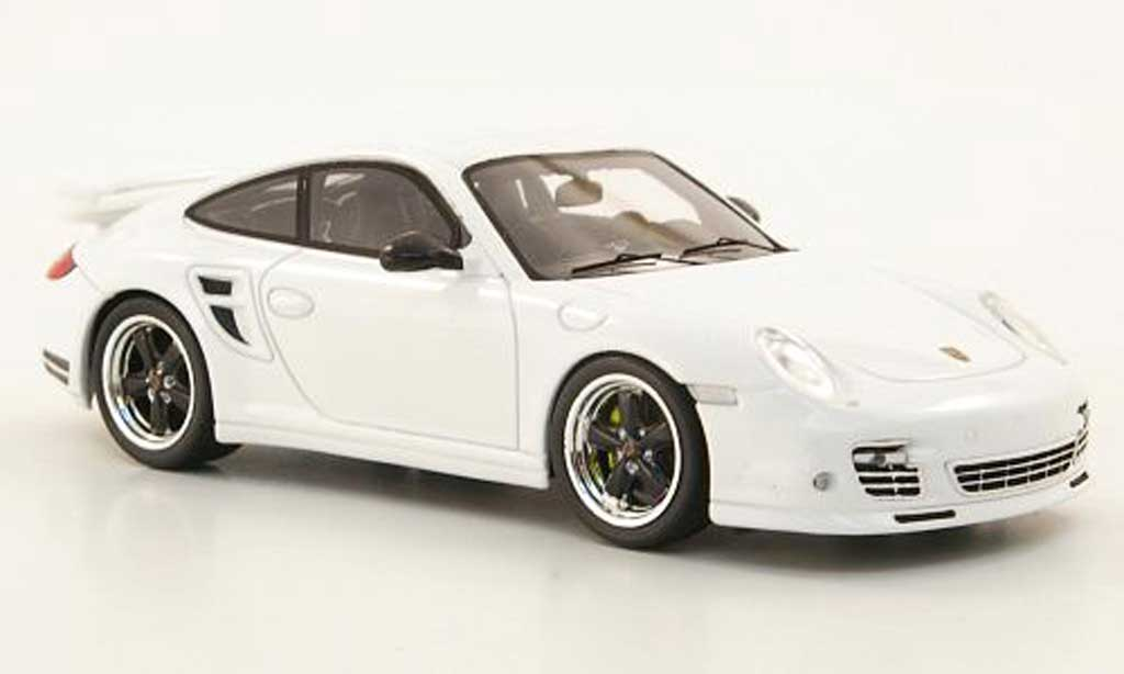 Porsche 997 Turbo S 1/43 Spark Tequipment (II) white diecast model cars