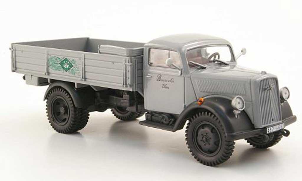 Opel Blitz 1/43 Hachette Pritsche Booss & Co. grise (ohne Magazin) 1952 miniature