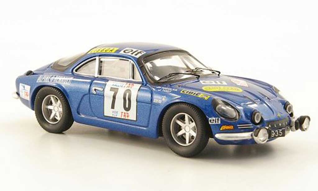 Alpine A110 1/43 Trofeu No.70 TAP Rally Portugal 1972 miniature