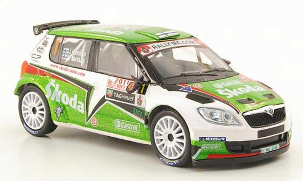 Skoda Fabia S2000 1/43 Abrex No.1 Hanninen/Markkula Rally Monte Carlo 2011 miniature
