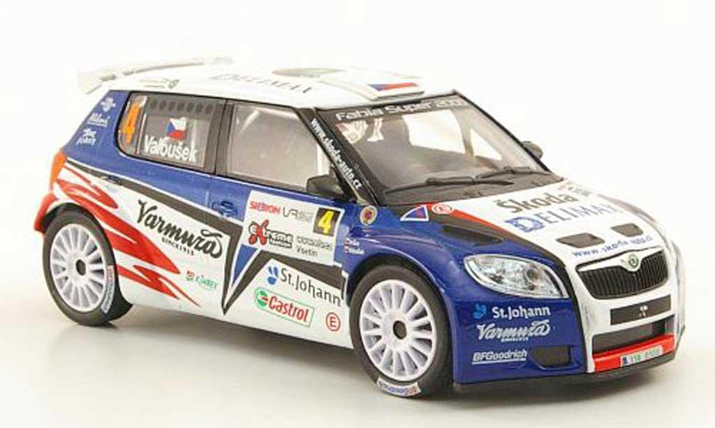 Skoda Fabia S2000 1/43 Abrex No.4 Delimax Valousek/Hruza Rally Valasska 2010 miniature
