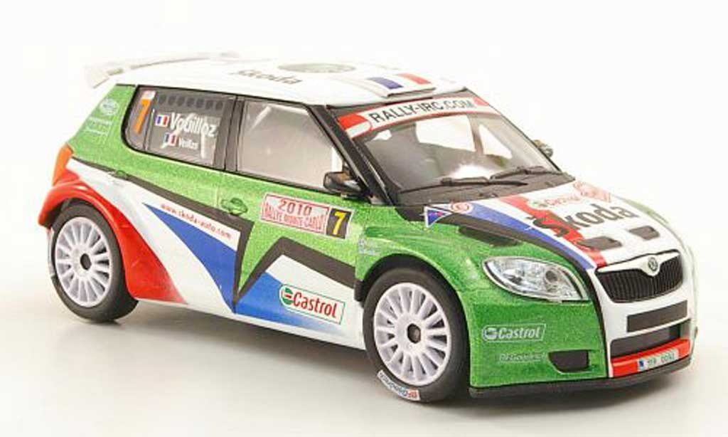 Skoda Fabia S2000 1/43 Abrex No.7 Vouilloz/Veillas Rally Monte Carlo 2010 miniature
