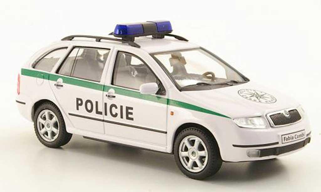 Skoda Fabia 1/43 Abrex Policie Polizei Tschechien miniature