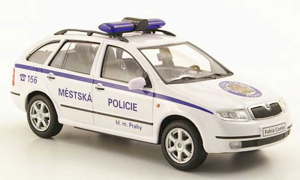 Skoda Fabia 1/43 Abrex Combi Mestska Policie Praha Polizei Prag miniature