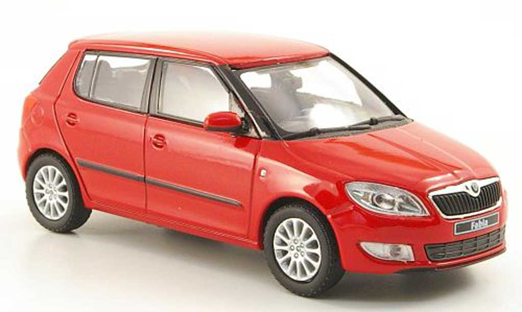 Skoda Fabia II 1/43 Abrex II rouge 2010 miniature