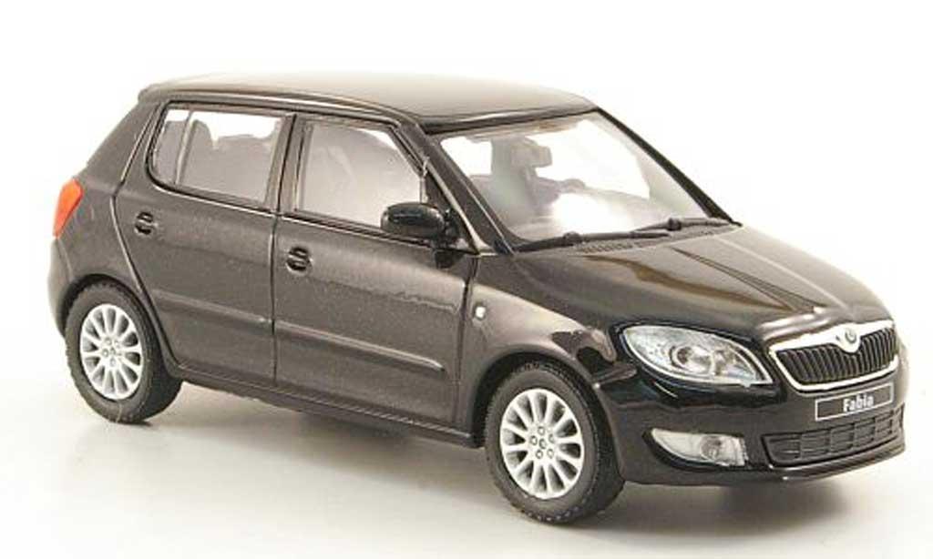 Skoda Fabia II 1/43 Abrex black 2010 diecast model cars