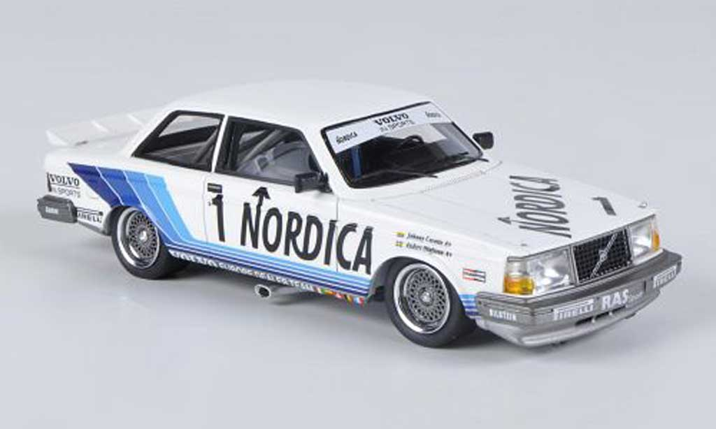 Volvo 240 Turbo 1/43 Neo Gr.A No.1 Nordica RAS Sport J.Cecotto / A.Olofsson ETCC Zolder 1986 miniature