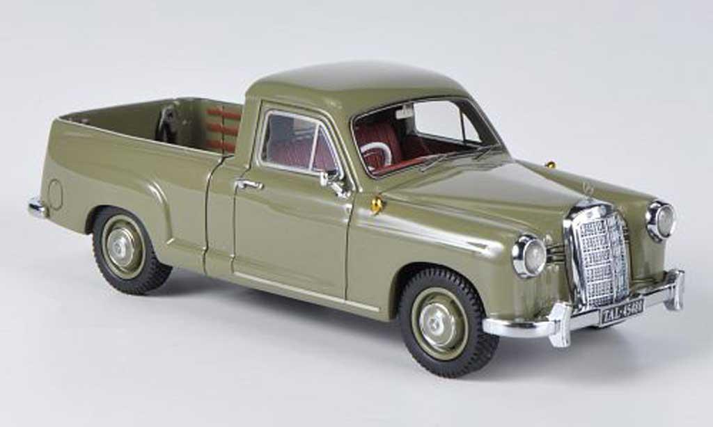 Mercedes 180 1/43 Neo (W120) Bakkie oliv 1956 miniature