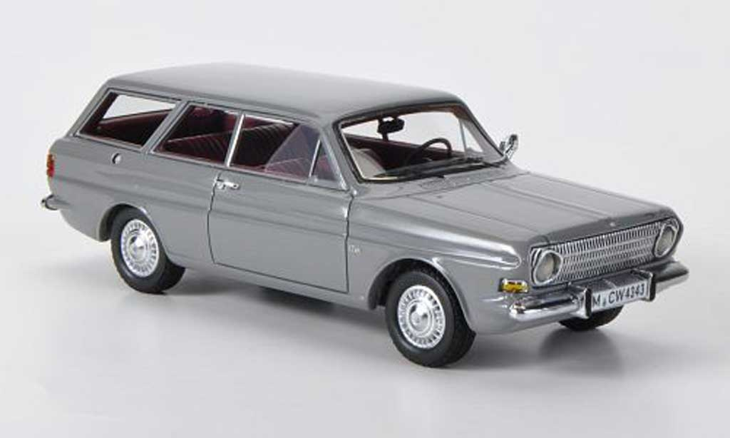 Ford Taunus 1966 1/43 Neo 12m (P6) Turnier grise limited edition miniature