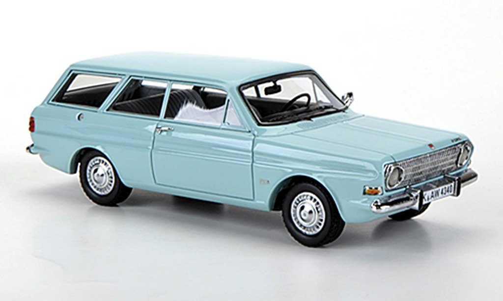 Ford Taunus 1966 1/43 Neo 12m (P6) Turnier turkis miniature