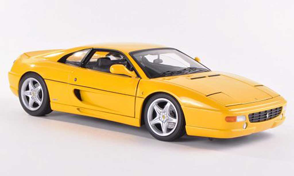 Ferrari F355 Berlinetta 1/18 Hot Wheels Elite gelb (Elite)  modellautos