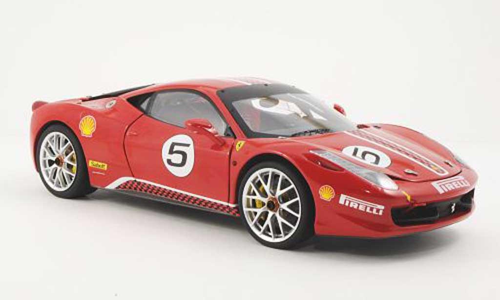 Ferrari 458 Challenge 1/18 Hot Wheels Elite No.5 rouge (Elite) miniature