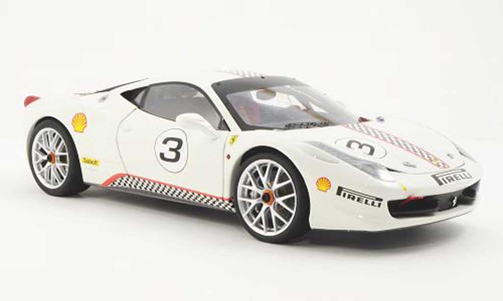 Ferrari 458 Challenge 1/18 Hot Wheels Elite No.3 white (Elite)