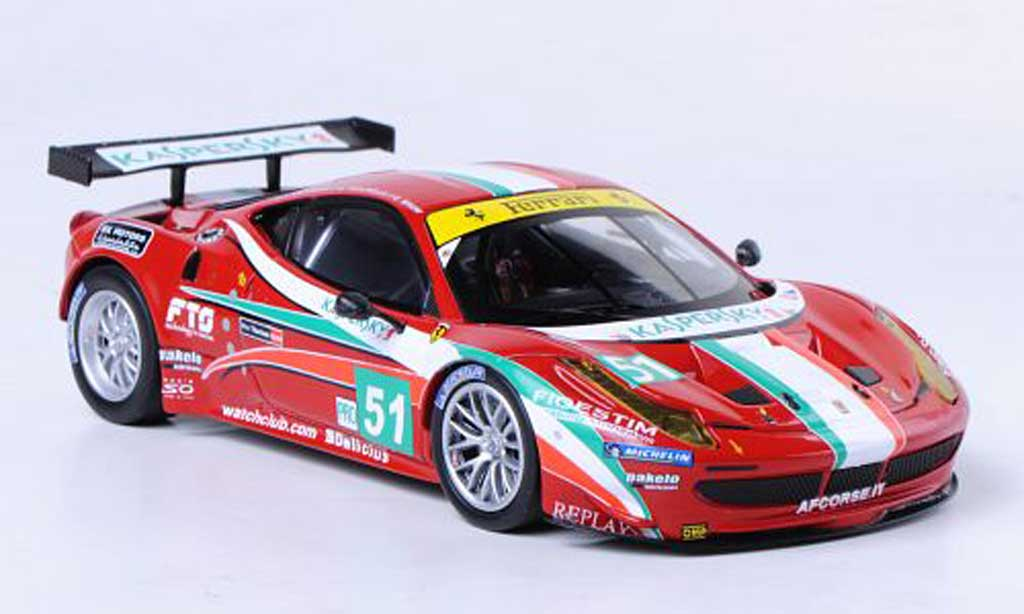 Ferrari 458 Italia GT2 1/43 Hot Wheels Elite No.51 AF Corse 24h Le Mans (Elite) 2011 miniature