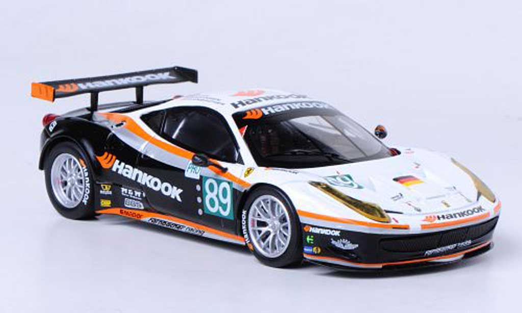 Ferrari 458 Italia GT2 1/43 Hot Wheels Elite No.89 Farnbacher Racing 24h Le Mans (Elite) 2011 miniature