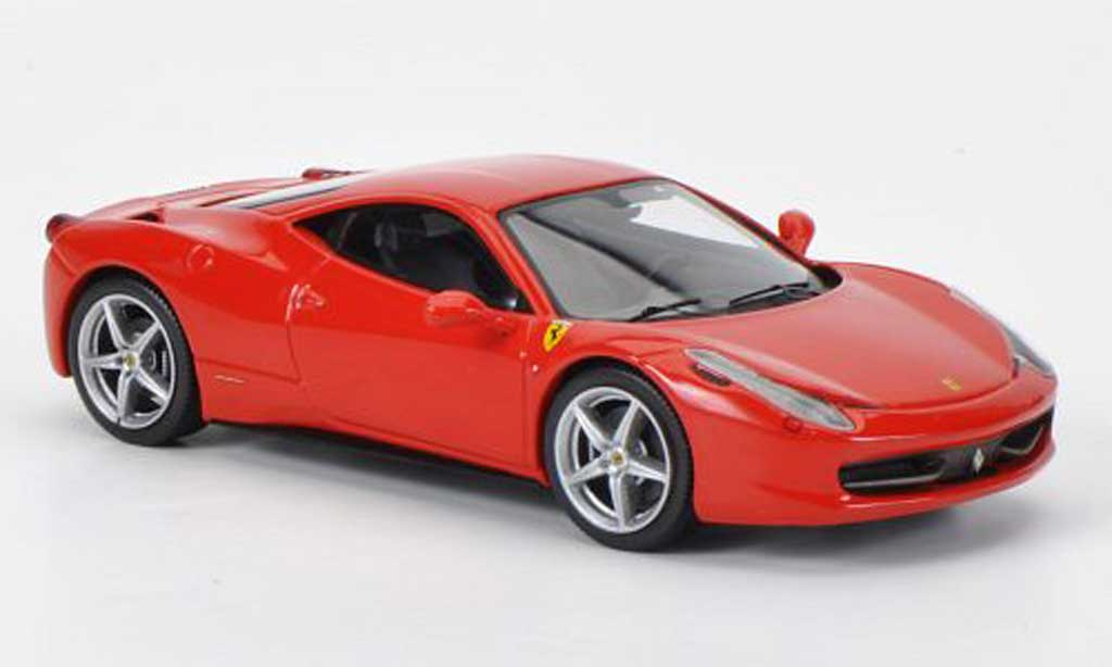 Ferrari 458 Italia 1/43 Hot Wheels Elite roja 2009 miniatura