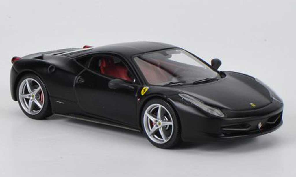 Ferrari 458 Italia 1/43 Hot Wheels Elite mattnegro miniatura