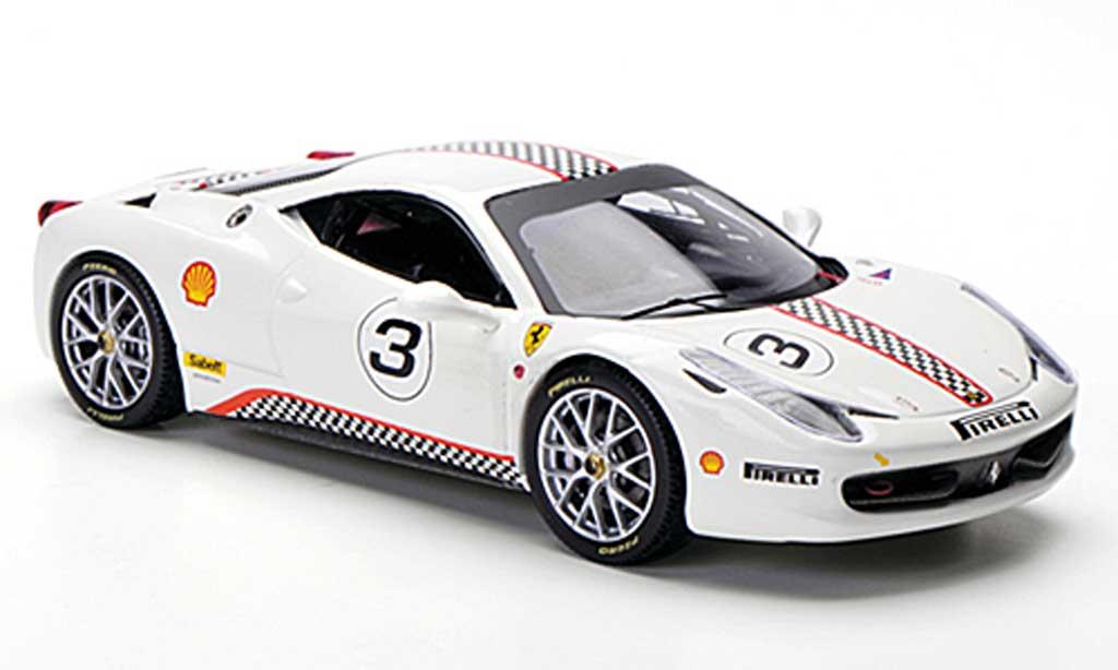 Ferrari 458 Challenge 1/43 Hot Wheels Elite No.3 white diecast model cars