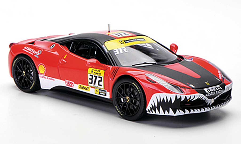 Ferrari 458 Challenge 1/43 Hot Wheels Elite No.372 Kessel Racing 2011 miniature