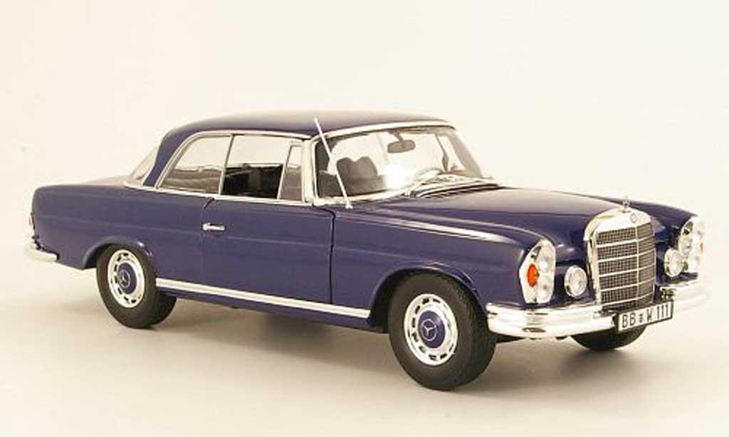 Mercedes 280 1969 1/18 Norev 280 SE Coupe (W111) bleu miniature