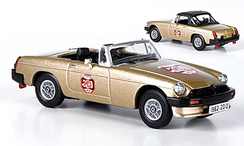 MG B 1/43 Vanguards gold ''50th Anniversary Model'' diecast model cars
