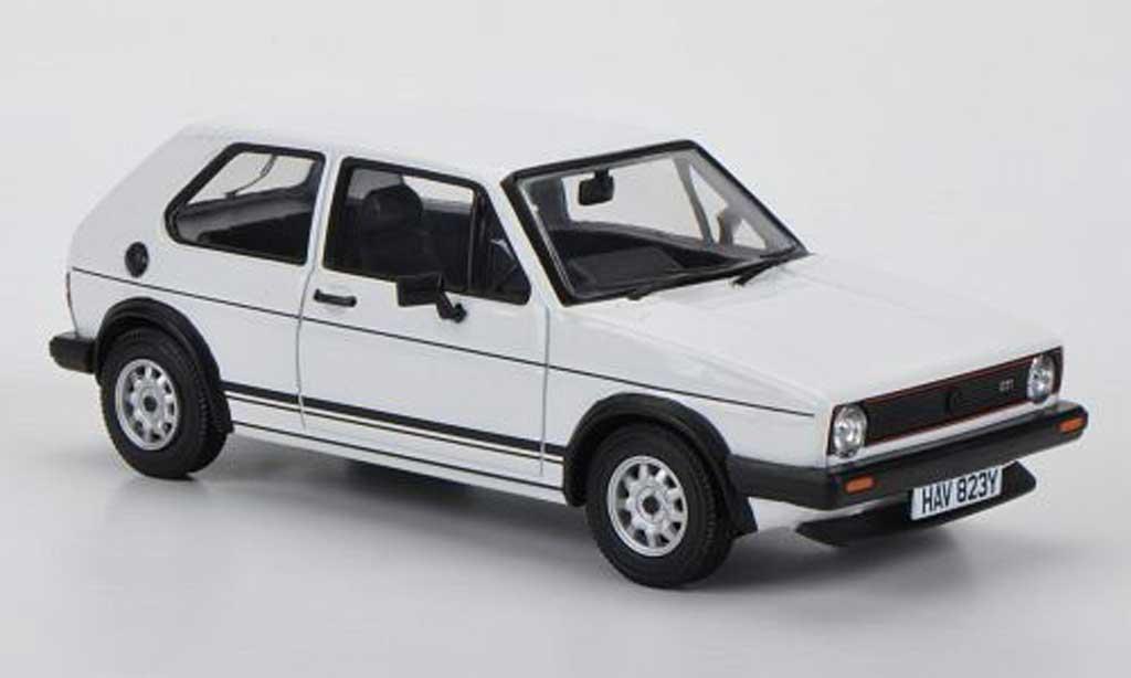 Volkswagen Golf 1 GTI 1/43 Vanguards blanche RHD miniature