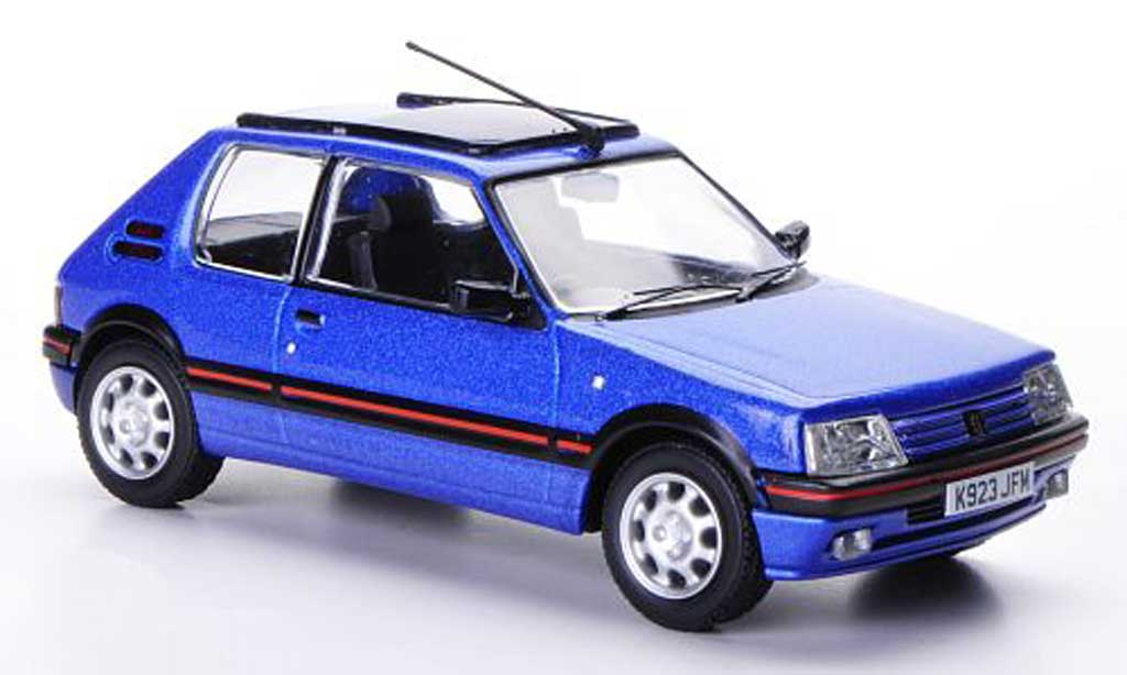 Peugeot 205 GTI 1/43 Vanguards 1.9 bleu Top Gear miniature