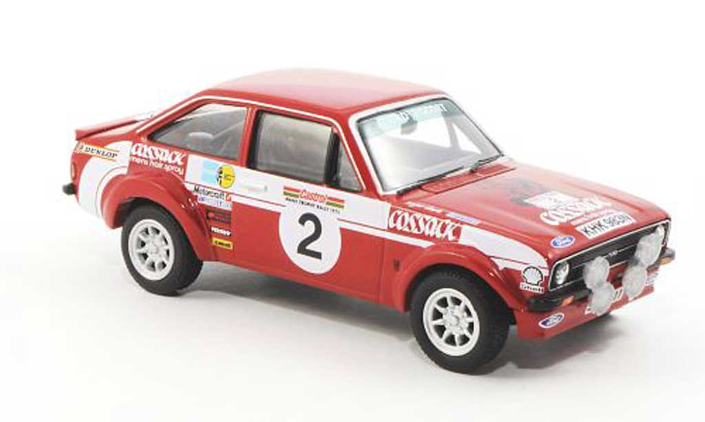 Ford Escort RS 1800 1/43 Vanguards MkII No.2 Cossack R.Clark / J.Porter Manx Rally 1975 miniature