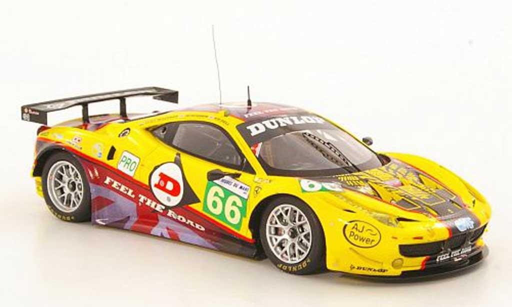 Ferrari 458 Italia GT2 1/43 Fujimi No.66 JMW Motorsport 24h Le Mans 2011 miniature