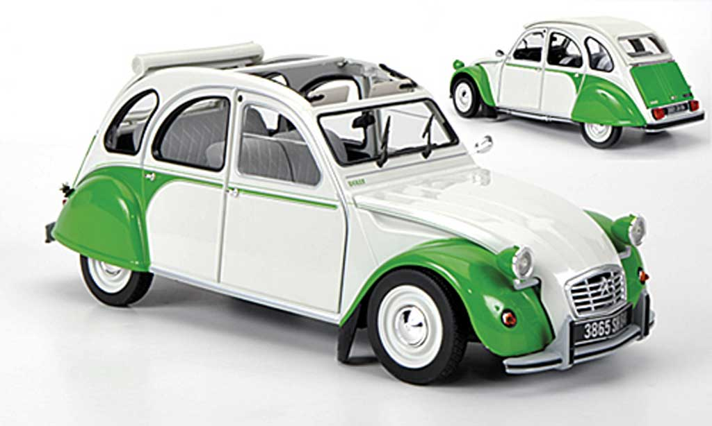 Citroen 2CV 1/18 Norev Dolly weiss/grun 1985 modellautos