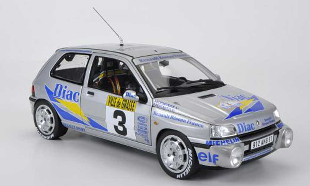 Renault Clio 16S 1/18 Norev No.3 Diac Ragnotti / Thimonier Rally Grasse Alpin 1991 miniature