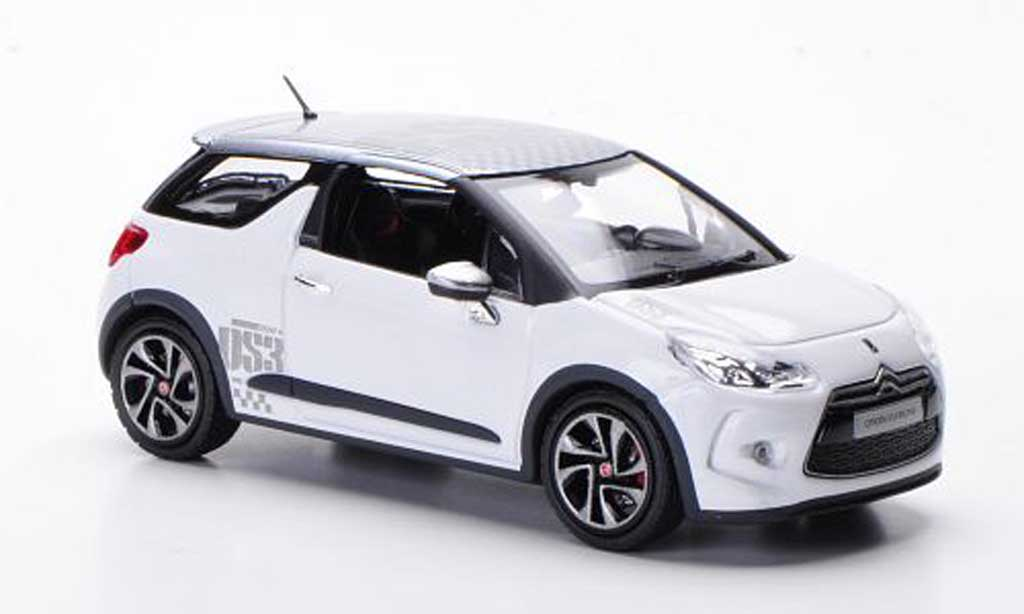 DS Automobiles DS3 Racing 1/43 Norev Racing blanche/grise 2010 miniature