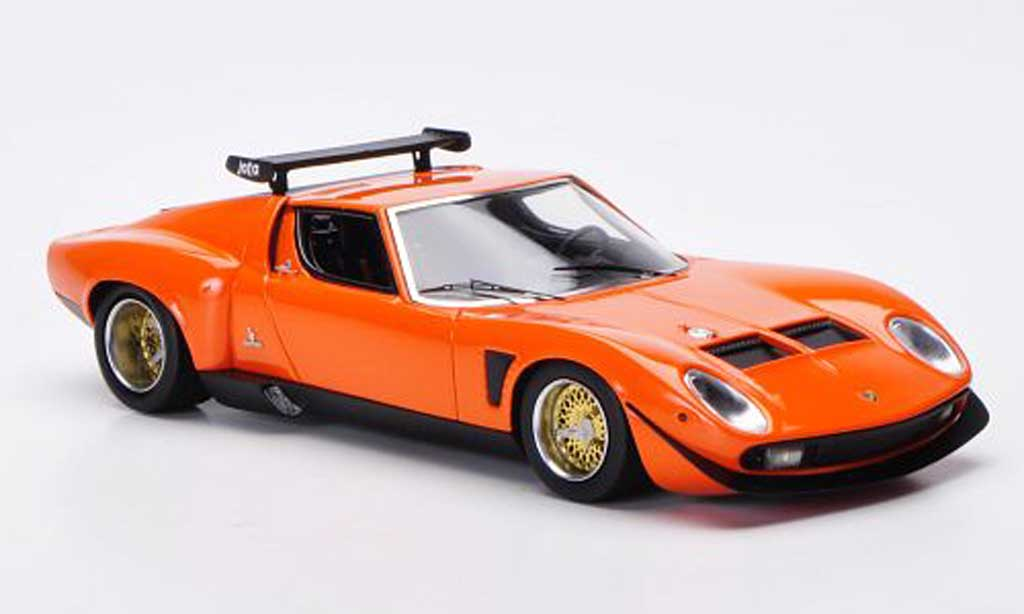 Lamborghini Miura Jota 1/43 FrontiArt SVR orange 1972 diecast model cars