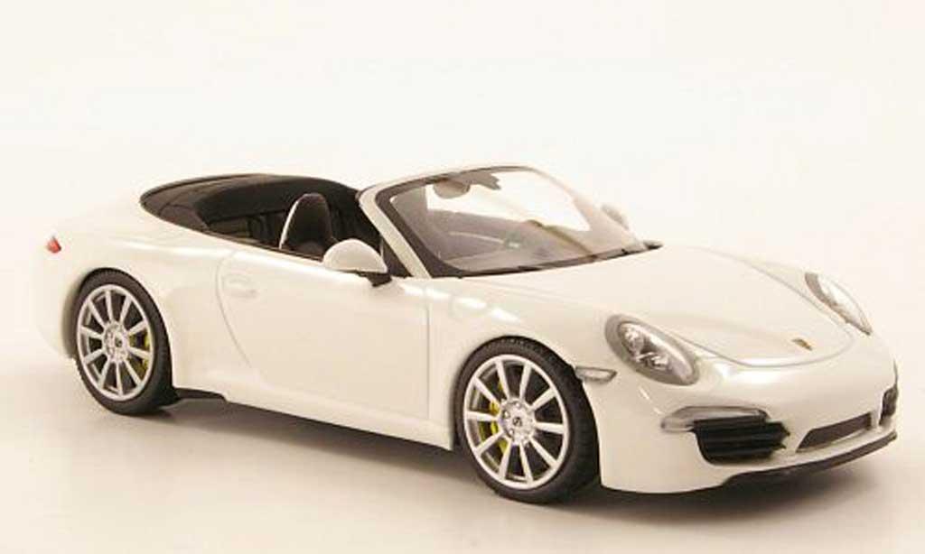 Porsche 991 Carrera 1/43 Minichamps Cabriolet blanche 2011 miniature