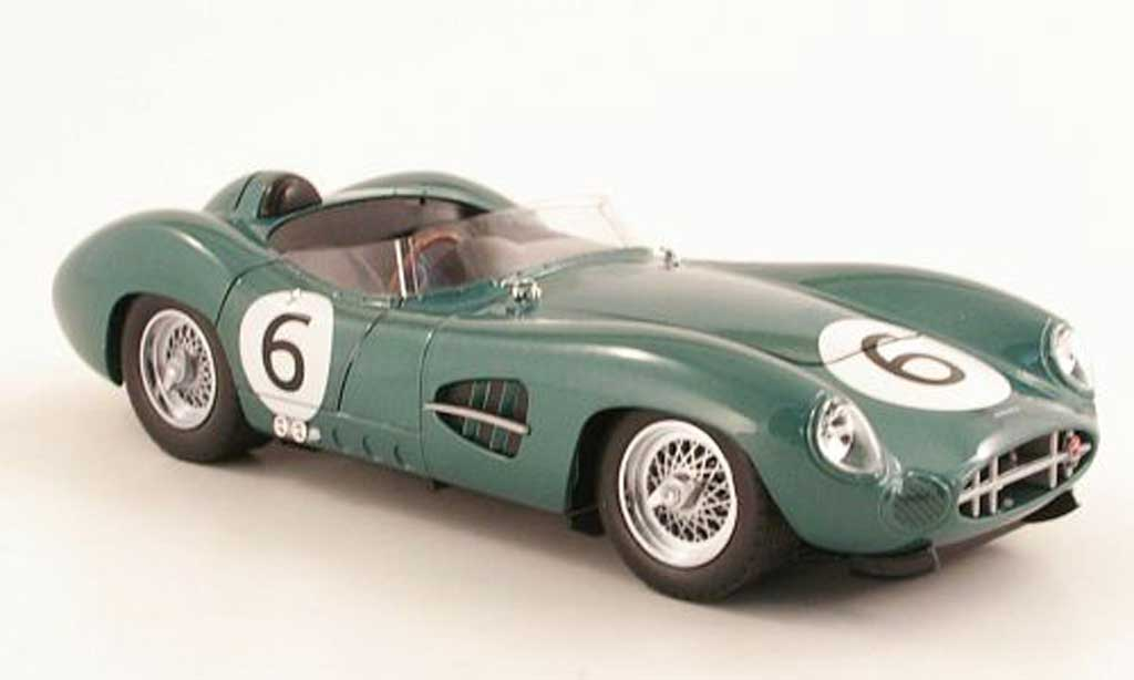 Aston Martin DBR1 1/18 Shelby Collectibles No.6 1959 M.Trintignant / P.Frere miniature